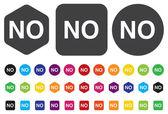 No buttons — Stock Vector