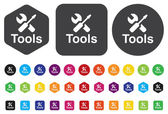 Tools Button  — Vector de stock