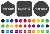Restricted button — Stock Vector