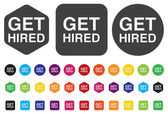 Get hired icon — Stock Vector
