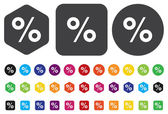 Percent icon — Vector de stock