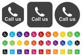Call us icon — Stock Vector