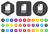 Icono pdf — Vector de stock