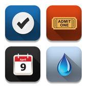 Icone di app vettore, illustrazione di set di icone di applicazione — Vettoriale Stock