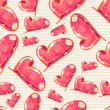 Seamless love pattern — Image vectorielle