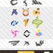 Set of icons. 15 signs — Stock Vector