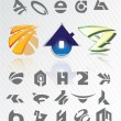 Set of icons. 38 signs - Stock Vector