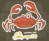 Mechanický krab. vektorové ilustrace — Stock vektor