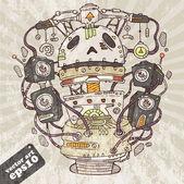 Robot DJ — Stock Vector