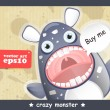 Vecteur: Crazy monster