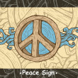 Vector de stock : Peace sign