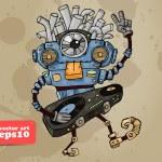 Robot DJ — Stock Vector #21531213