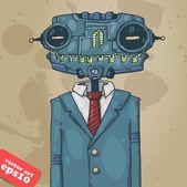 Office robot — Stock Vector
