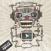 Audio robot head — Stock Vector