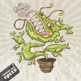 Predatory plant — Stock Vector