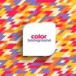 Colored geometric pattern — Image vectorielle