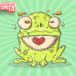 Funny frog — Stock Vector