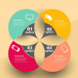 Conceptual vector Design template. infographics element — Vektorgrafik