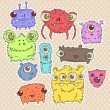 Set of cute monsters — Stock Vector #26479113