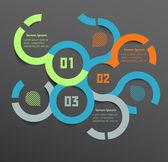 шаблон оформления концептуальной вектор. инфографика элемент — Cтоковый вектор