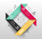 Szablon projektu koncepcyjne wektor. infografiki elementu — Wektor stockowy