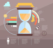 Infographic. time — Vetorial Stock