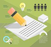 Infographic. writer — Stock Vector