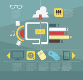 Infographic. Devices — Stock Vector