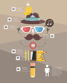 Infographic. hipster — Stock Vector
