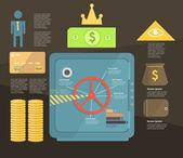 Infographic. saving money. bank deposits — Stock Vector