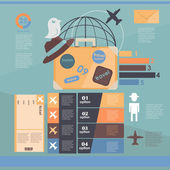 Infographic. flights. vacation — Stock Vector