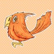 Vector de stock : Cartoon bird