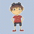 Cartoon boy — Vector de stock #28002453