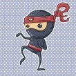 Stock Vector: Cartoon ninja