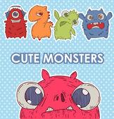 Monster set — Stock Vector