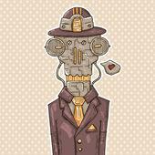 Robot gentleman — Stock Vector