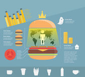 Infographic. fast food — Stock Vector