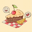 Decorative cake — Image vectorielle