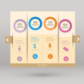Conceptual vector Design template. infographics element — Vetorial Stock