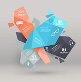 Conceptual vector Design template. infographics element — ストックベクタ