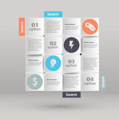 Conceptual vector Design template. infographics element — Vecteur