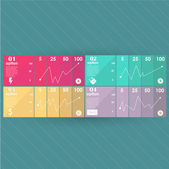 Conceptual vector Design template. infographics element — Vettoriale Stock
