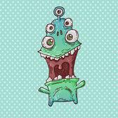 Joyful monster — Stock Vector