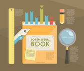 Book infographic — Stock Vector