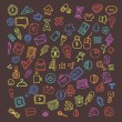 Doodle Icons Set — Stock Vector