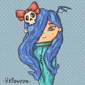 Vampire-girl — Stock Vector