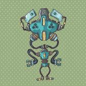 Ridiculous robot — Stock Vector