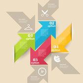 Conceptual vector Design template. infographics element — Stock Vector