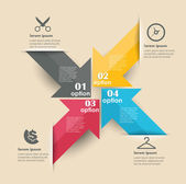 Modèle de conception conceptuelle vector. élément de l'infographie — Vecteur