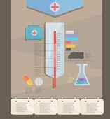 Infographic. medicine — Stock Vector
